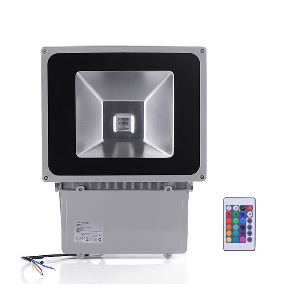 5pcs Beautiful 100W RGB LED Outdoor Waterproof Flood Light Wash Floodlight Spotlight Lighting With Remote Controller AC85-265V<br>