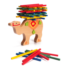 Cute Cartoon Animal Educational Elephant Balancing Blocks Wooden Toys Beech Camel Wood Balance Game Blocks Gift Baby Toys