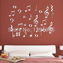 Vinyl MUSIC Musical NOTES Variety Pack Wall Decor Decal Sticker nursery wall decal kids room decoration wallpaper