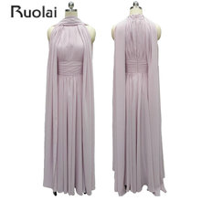 2017 Real Sample Elegant Long Chiffon Bridesmaid Dresses Pleat Ribbons Maid Of Honor Dress For Wedding Party Custom Made