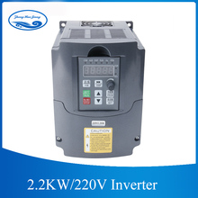 HJ CNC Spindle motor speed control 220v 2.2kw VFD Variable Frequency Drive VFD Inverter 1HP Input 3HP frequency inverter