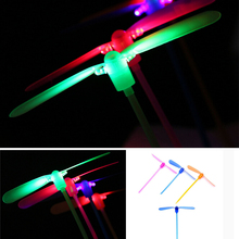 3pcs/lot Kids Toy Dragonfly Flying Led Spinning Light-up Colorful Children Toys Gift For Girls And Boys