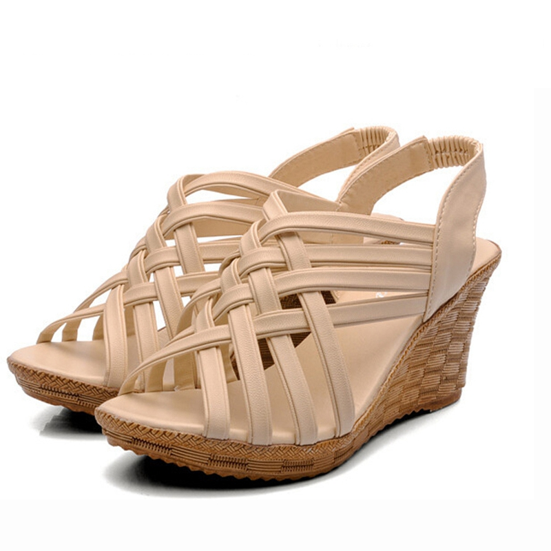 Gladiator Sandals Women Platform Shoes 2017 New Back Strap Belt Platform Womens Summer Shoes Drop Shipping XWZ275<br><br>Aliexpress