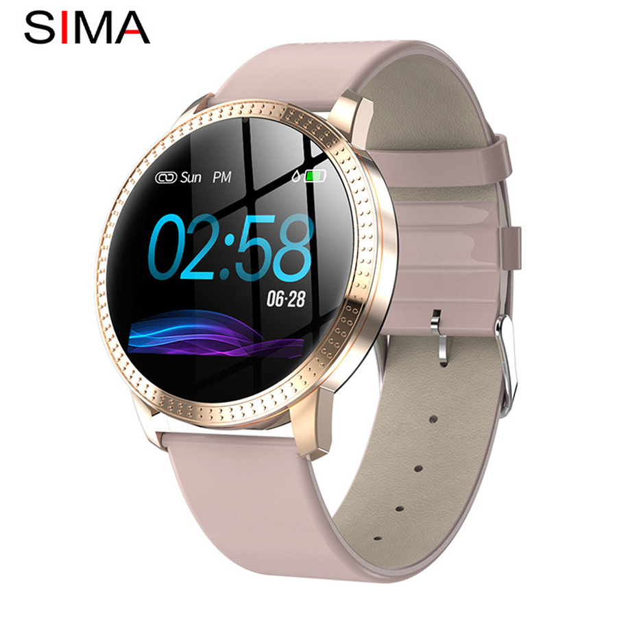 Smart Watch Women Pink Blood Pressure Monitor Digital Sport Watch Ladies Waterproof 1.22 inch Large Screen Smart Bracelet Women title=