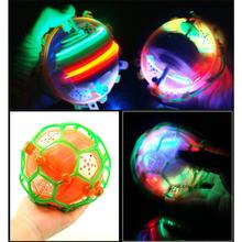 1Pc LED Light Jumping Balls Kids Crazy Music Football Bouncing Dancing Ball Children's Funny Toy Christmas Gift