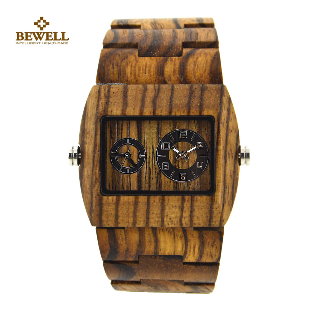 BEWELL Wood Watch Mens Watches Top Brand Luxury Business Wooden Quartz Watch Relogio Masculino Feminino Calendar Display Watch<br>
