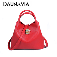 DAUNAVIA Famous Brand Fashion Candy Women Bags Mobile Messenger Ladies Handbag PU Leather High Quality Diagonal Cross Buns ND403(China)
