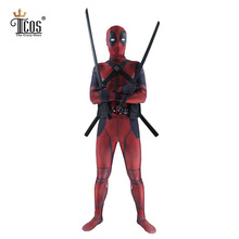 Deadpool Cosplay Costume Man Marvel Deadpool-Costumes Adult Wade Wilson Spandex Lycra Nylon Zentai bodysuit Second Skin Tight(China)