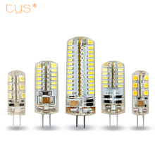 T.Y.S LED G4 Lamp 3W 4W 5W DC 12V AC 220V Lampada G4 LED bulb SMD3014 2835 Replace 10w 30w Halogen Light Bulb 360 Beam Angle(China)