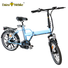 "JS 20"" foldable electric bicycle 36V 10ah lithium battery 250W brushless motor LCD display speed 40km/h electric bicycle e bike(China)"