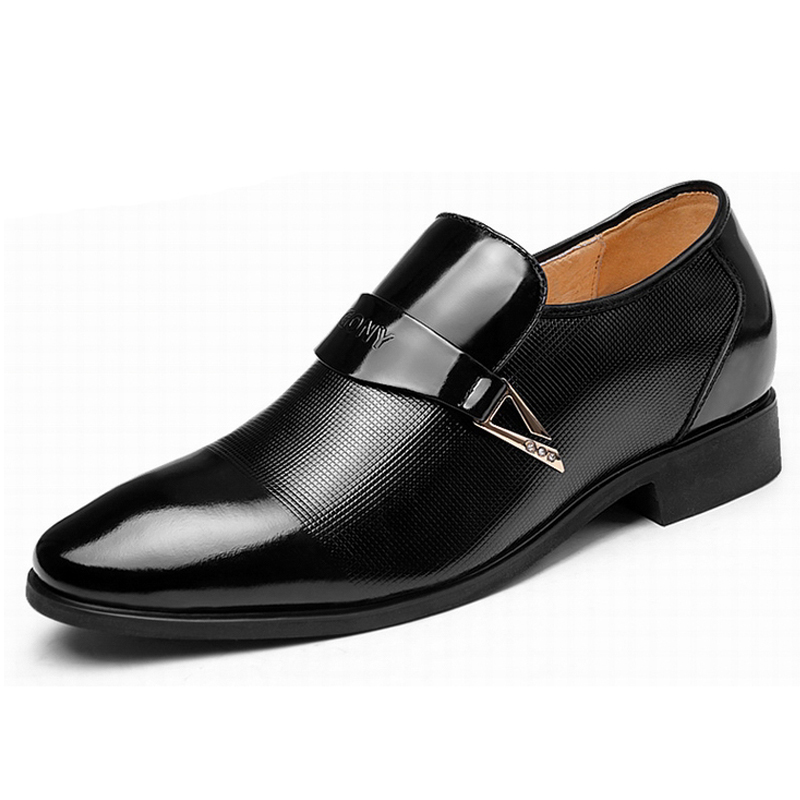 2.36 Inches Taller-Genuine Leather Heightening Elevated Loafer shoes Formal Business Shoes<br><br>Aliexpress