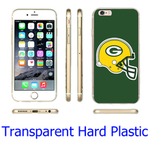 Fashion Green Bay Packers NFL Styl Hard Transparent Phone Case for iPhone 7 6 6S Plus 4 4S 5C 5 SE 5S Cover