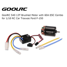 GOOLRC 540 13T Brushed Motor with 60A ESC Combo for 1:10 RC Car Traxxas Ford F-150 Car Vehicle RC Part(China)