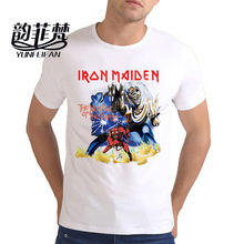 Iron Maiden Brand 3D t shirt New Style 2017 Heavy Metal Streetwear Men's T-shirts 100% Cotton Casual Short Sleeve TOP Tees white