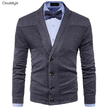 Cloudstyle Men's Sweater Fashion Style Cardigan Men Jacket With Button Business Sweater Casual Design Long Sleeve Winter Outwear(China)