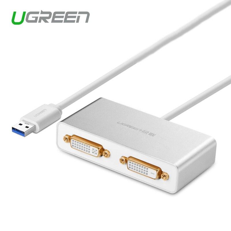 Ugreen USB 3.0 to Dual-DVI HDMI VGA External Multi-Display Adapter High Premium Converter Cable for Windows XP/Vista/7/8/8.1<br><br>Aliexpress