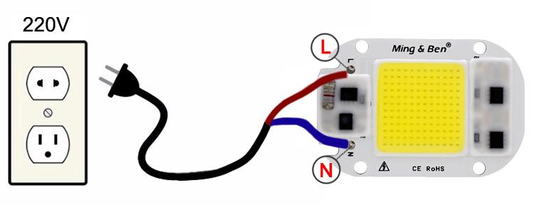 [MingBen] LED COB Lamp Chip 5W W 30W 50W 2V Input Smart IC Driver Fit For DIY LED Floodlight Spotlight Cold White Warm White 11
