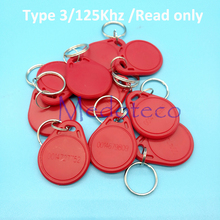 Buy 10 pcs Red Color Type 3 125khz ID keyfobs card Tk4100 Rfid Key card Access Control System read for $1.20 in AliExpress store