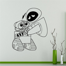 Wall Decal Wall-e and Eve Cartoons Robots Vinyl Sticker Home Decor Ideas Interior Removable Kids Room Wall Art Wall Sticker X028