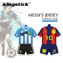 Football player Messi Jersey model memory stick 128g pen drive 64g usb flash drive 32gb 16g 8g 4g pendrive U disk high speed