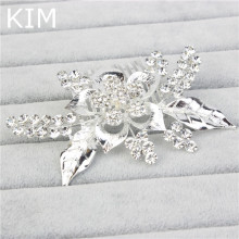 Silver Plated Bridal Hair Comb For Valentine Gift Austrian Crystal Head Piece For Wedding Hair Piece Bridesmaid HLC-001