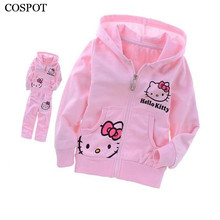 COSPOT Baby Girls Autumn Clothing Set Girl Spring Outerwear Kids Long Sleeve Hooded Sweater+Pants Cotton Suit 2017 New 25C