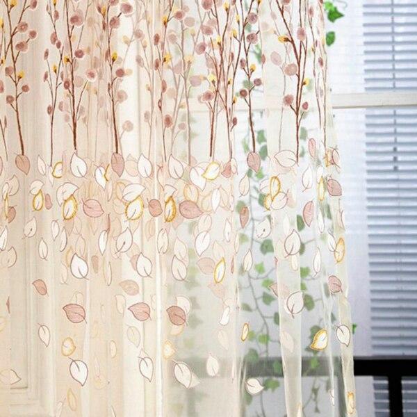 1 PC Tulle Door Window Curtain Drape Panel Sheer Scarf Valances (1)