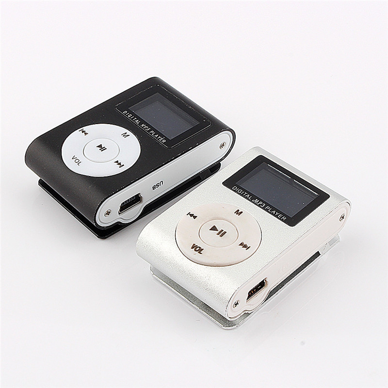 MP3 Music Player LCD Screen Mini Slim Mp3 Player Support Micro TF Card Slot 2/4/8/16/32GB(China)