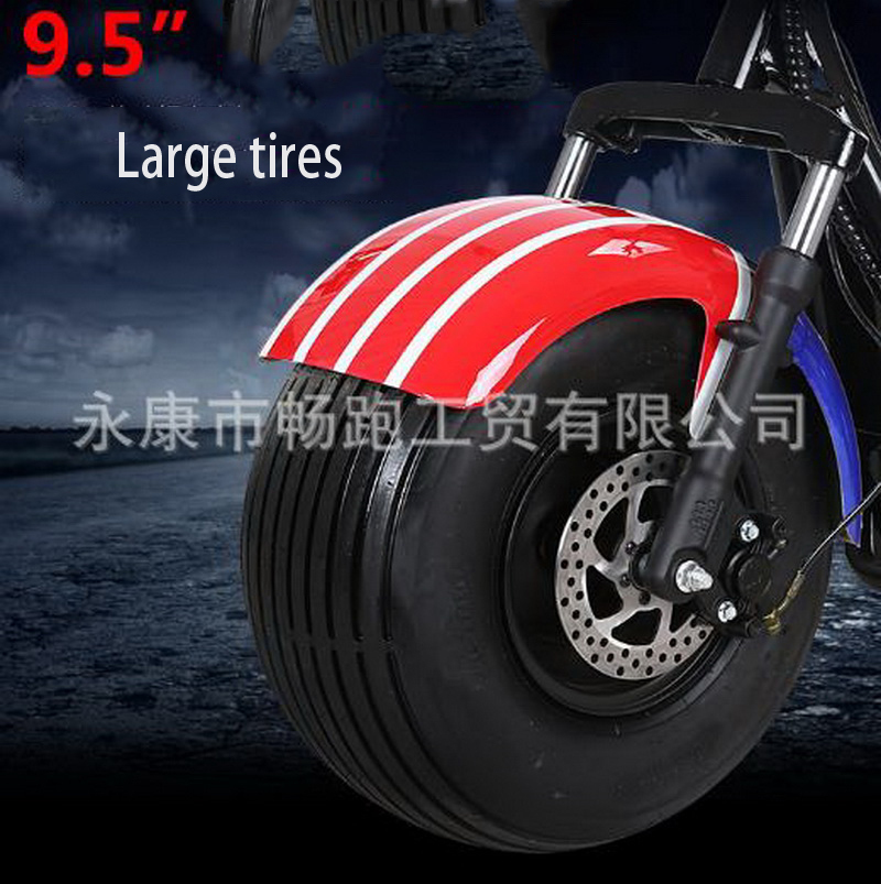 Overseas Warehouse Wide Tire Puhalei Electric Vehicle Tricycle Scooter Three-wheel Electric Axle Drive