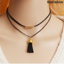 New 2017 Fashion Choker Necklace Vintage Women Pendant Necklace kolye Accesories Rope Choker 2017 For Girl Women Gift