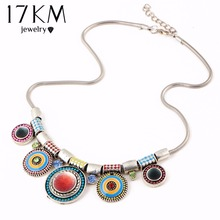 17KM Women Choker Necklace Fashion Charms Rhinestones Chunky Statement Necklace Collares 2016 Boho Vintage Maxi Collares