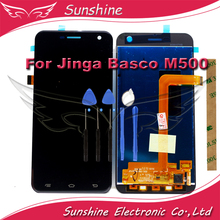 M500 LCD Display Touch Sensor For Jinga Basco M500 3G 4G LCD Display Assembly Touch Screen With tools