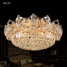 Crystal chandelier lustres contemporary chandelier crystal lamp of living room lights gold/chrome chandelier lighting Restaurant(China)