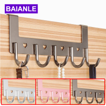 Bathroom Accessories Coat Clothes Hooks Modern Hooks Door For Aluminum Convenient Hooks For Clothes On The Door BAIANLE(China)