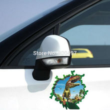 Car-styling 3D Car Sticker Car-covers Dinosaur Coming Out For Tesla Chevrolet Cruze VW Golf Mazda BMW Kia Ford Renault Opel Lada(China)