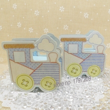 Free shipping 50Pcs/lot Cute little Train Candy box For boy girl Baby birthday party baby shower favors baby shower souvenirs(China)