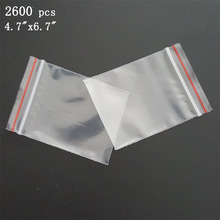 "Via DHL EMS SPSR 2,600 Pcs 12cmx17cm ZIP LOCK BAG 4.7""x6.7"" CLEAR RECLOSABLE POLY ZIPPER BAGS 2 MIL ZIP SEAL PLASTIC BAGGIES"