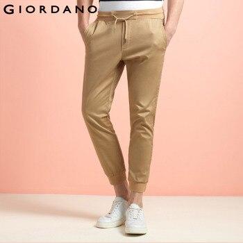 Giordano homens calças marca magro calças basculador mens sweatpants corredores corredores calças sólidas para homens casual masculino homme