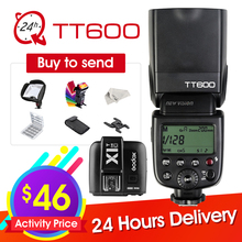 Buy Godox TT600 2.4G Wireless Camera Flash Speedlite + X1T-C/N/F Transmitter Wireless Flash Trigger Canon Nikon Fujifilm Olympus for $46.00 in AliExpress store