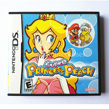 Nintendo NDS Game Super Princess Peach Video Game Cartridge Console Card US English Version with Manual Book Retail Package