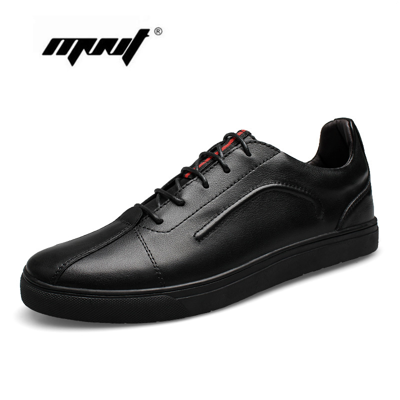 High Quality Genuine Leather Shoes Men Fashion Lace Up Casual Shoes Soft Breathable Flats Shoes<br>