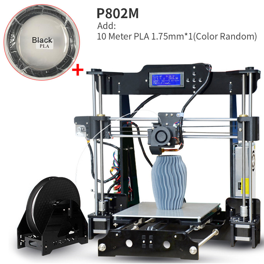 Upgrade New Metal 3D Printer Tronxy DIY kits Direct extruder 3D printing with PLA off line 8G SD card MK3 heatbed