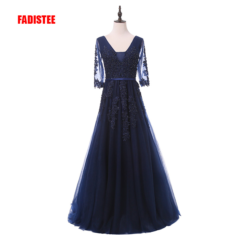FADISTEE New arrival elegant party dress evening dresses Vestido de Festa luxury appliques gown long style beading (China)