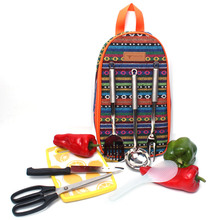 Outdoor Cookware Backpack Portable Camping Knife Scissors Fork Kitchenware Set 7 Pcs/Set Tableware Cooking Tools Picnic