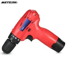 Meterk 12V DC New Design Electric Drill Household DIY Lithium-Ion Battery Cordless Drill/Screwdriver Power Tools(China)