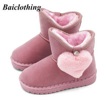 2018 New Warm Kids Snow Boots For Children Toddler Winter Princess Child  Shoes Non-slip Flat Round Toe Girls Baby Lovely Boots 2880e7b1d261