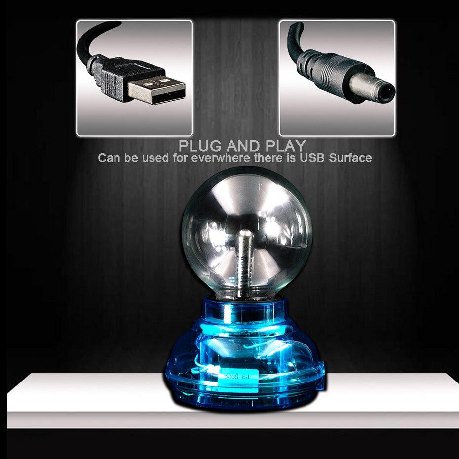 CNSUNNYLIGHT Car Music Sound Control LED USB Plasma Ball Electrostatic Lamp Decoration Atmosphere DJ Lights Party Magic Lighting (7)