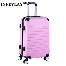 20/24 inches ABS girl students spinner trolley case child creative Travel luggage rolling suitcase women business Boarding box(China)