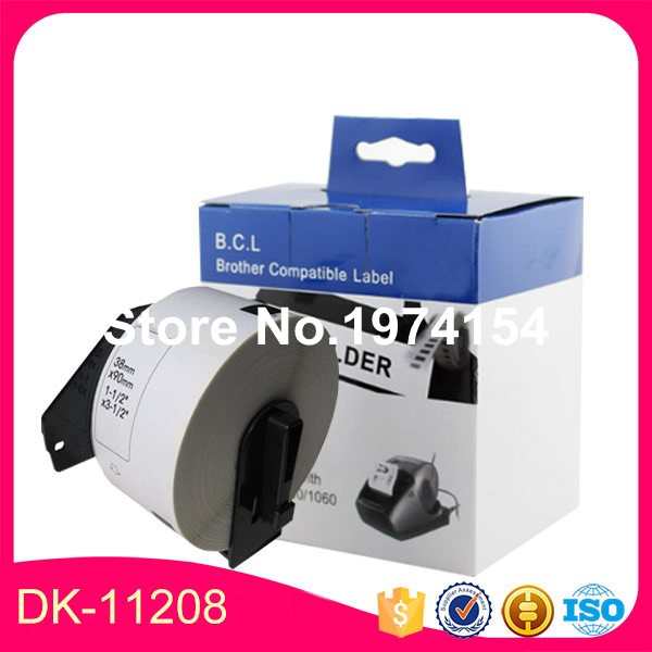 30 Rolls Compatible DK-11208 Label 38mm*90mm*400Pcs/Roll Compatible for Brother Label Printer All Come With permanent Holder