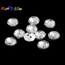 100pcs Pack Dia.11mm Acrylic Sewing Rhinestone Button White Clear For Apparel Bag Shoes Kids Craft Accessories #FLN019-18L(06)(China)